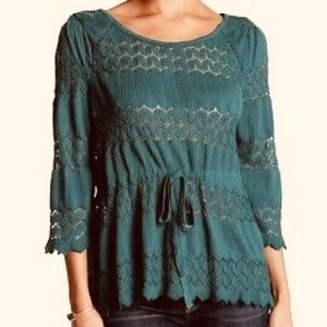 🔥 Free People Fire Island Crochet Top Size Small